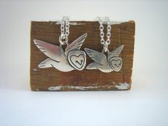 Mother Daughter Barn Owl Set by marmar on Etsy, $65.00 #motherdaughter #silverowl #owlnecklace