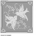 Love Birds Filet Crochet Doily Afghan Pattern Item 444