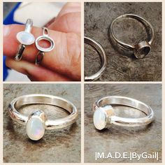 Recent commission. Rebuild and reset opal ring. Sterling silver.