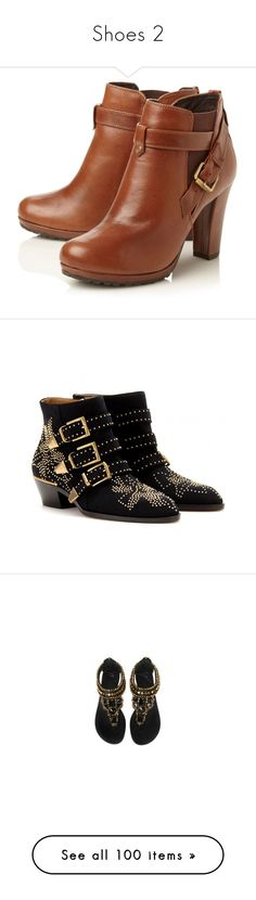 """""""Shoes 2"""" by rocket-queen-baby ❤ liked on Polyvore featuring shoes, boots, ankle booties, heels, botas, zapatos, heeled booties, leather heeled boots, leather heel booties and strappy booties"""
