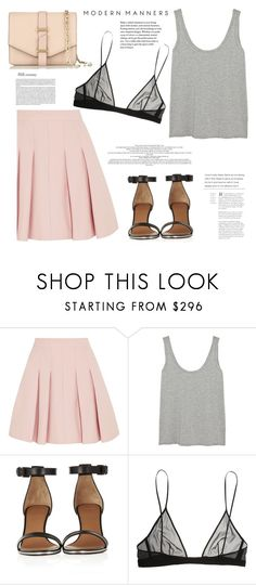 """""""The Prettiest Underpinnings"""" by bklana ❤ liked on Polyvore featuring RED Valentino, The Row, Givenchy, Yves Saint Laurent, Victoria Beckham, bklana, underpinnings and prettyunderpinnings"""