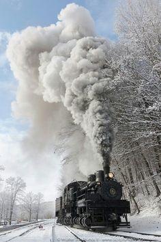 Winter Wonderland on Cass Scenic Railroads, West Virginia