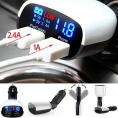 Универсальный 5 В 2.4A + 1A Dual USB Автомобильное Зарядное Устройство Адаптер…