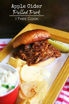I Thee Cook: Apple Cider Pulled Pork