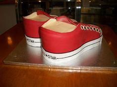 3D pair of #ConverseShoes #ConverseShoesCake #Aspoonfullasugar #Groomscakes