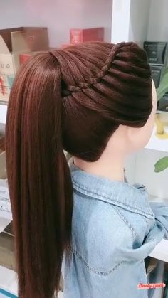 Hairdo For Long Hair, Bun Hairstyles For Long Hair, Hairstyles With Hair Extensions, Ponytail With Braiding Hair, Rubber Band Hairstyles, Easy Party Hairstyles, Braided Crown Hairstyles, Messy Braids, Extensions Hair