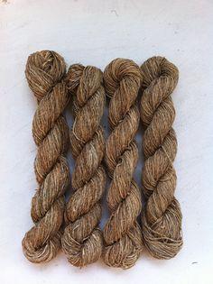 Handspun organic nettle yarn Unique artisan by Crochetmushroom, $9.00