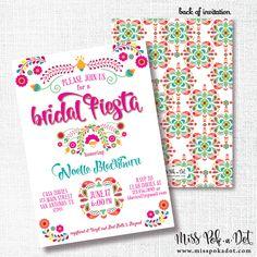 Fiesta Recipe Card Bridal shower recipe card Mexican Bridal Shower