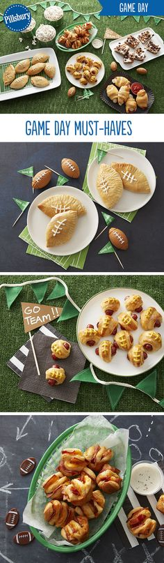 Game Day appetizers and snacks galore! From mini football buffalo chicken calzones to bacon cheddar hasselback biscuit bites to salted beer pretzel pigskin bites you'll find a recipe to please all of your guests!