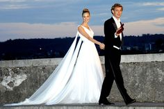 Beatrice Borromeo and Pierre Casiraghti - after the second ceremony - the 5th dress and the show stopper! 1 Aug 2015
