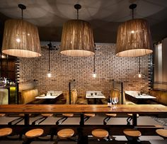 Dual Kitchen Challenge, Nico Osteria Restaurant, Chicago. Interior Design, Bar Design, Kitchen Design.
