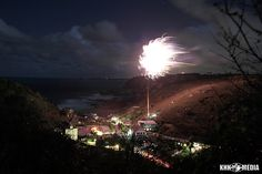 Fireworks in Trevaunance Cove