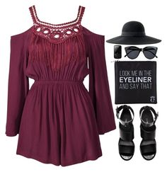 """""""LA Lady"""" by daizydreamer ❤ liked on Polyvore featuring Kiss The Sky, Le Specs, H&M, Eyeko and ASOS"""