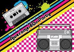 80′s PartyInvitation