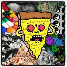 Tripped out pizza