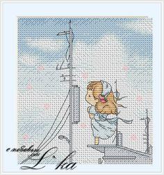 Gallery.ru / Бумажный кораблик - ручная прорисовка - L-ka - On the Pier (Delicate Illustrations)