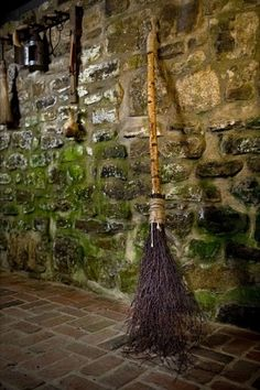 The broom is lovely, so are the colors of the wall..beautiful..
