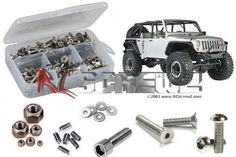 Axial Racing SCX10 Jeep Wrangler Rubicon Stainless Steel Screw Kit
