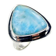 Magnificent Dominican Larimar & .925 Sterling by TheSilverPlaza
