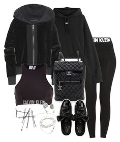 """""""Untitled #3347"""" by theeuropeancloset ❤ liked on Polyvore featuring Calvin Klein, Off-White, Haider Ackermann, Chanel and Puma"""