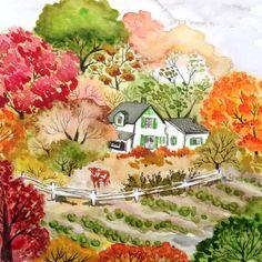 Green Gables watercolor by Bridget Beth Collins.