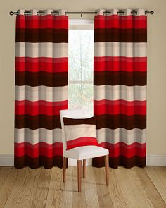Superieur Luna 02 Red Curtains With Eyelet Heading. Red Black BedroomsRed ...