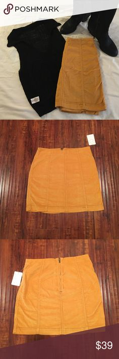 3 DAY SALE 🎀🆕 Free People Corduroy Mini Skirt🎀 Free People mustard colored corduroy mini skirt. Great for summer with t-shirt and sandals or winter with tall boots and sweater! Free People Skirts Mini