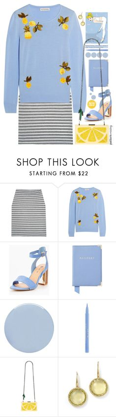 """Fruit & Stripes."" by s-elle ❤ liked on Polyvore featuring Altuzarra, Aspinal of London, Deborah Lippmann, Stila, Disney, Alice + Olivia, Roberto Coin and patternmixing"