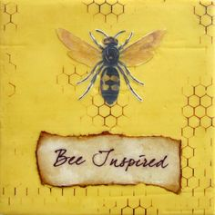 and bee inspired !!! ................................ Although this is not a honeybee, but a wasp
