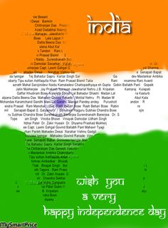 I salutes and pay homage to all the freedom fighters… who sacrificed their Life and all the comforts for the liberation of our motherland.  In this map of India there are names of Freedom Fighters.