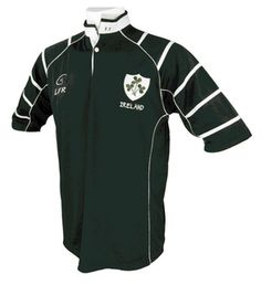 Men's Irish Rugby Jersey: This is a brand new rugby shirt that looks great when worn with jeans. The piping on the shoulders and sleeve add a touch of je ne sais quais to the design. Comes with a shamrock embroidered onto the center of the back collar. Irish Rugby Shirt, Ireland Rugby Shirt, Outdoor Outfit, Sport Outfits, Mens Tops, Shirts, Clothes, Man Stuff, Real Man