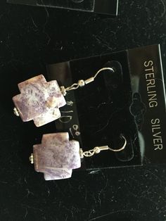 Purple Stone Earrings - pinned by pin4etsy.com