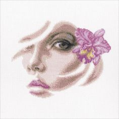 """Tropical Orchidee Counted Cross Stitch Kit-8.75""""X7"""" 14 Count"""