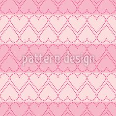 Rows With Dotted Hearts Repeat Pattern Vector Pattern, Pattern Design, Repeating Patterns, Surface Design, The Row, Your Design, Hearts, Dots, Stripes