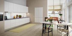 Affordable Italian furniture kitchen bathroom cabinetry in modern and contemporary styles Home Decor Kitchen, Kitchen Furniture, New Kitchen, White Dining Table, Table And Chairs, Bathroom Cabinetry, Kitchen Cabinets, Elegant Kitchens, Italian Furniture