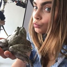 When she went to kiss this frog, and you wanted to BE that frog. | 27 Times You Instantly Fell In Love With Cara Delevingne