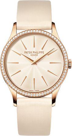 4897R-010 Patek Philippe Calatrava Women's 18K Rose Gold Watch | WatchesOnNet.com