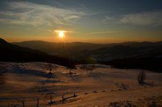 tramonto invernale sull'appenino tosco-romagnolo