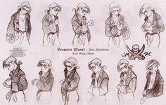 treasure planet model sheet