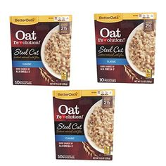 BetterOats Oat Revolution Classic Steel Cut Instant Oatmeal with Flax  3 Pack with 10 pouches each ** Details can be found by clicking on the image.Note:It is affiliate link to Amazon.