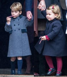 Seasons greetings to you all! The Duke and Duchess of Cambridge took George and Charlotte to church on Christmas Day for the first time at S...