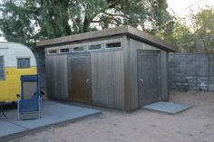 Corrigated Metal, Steel Patina, Steel Siding, Farm Shed, Tuff Shed, Horse Shelter, Metal Shed, Modern Shed, Fence Ideas