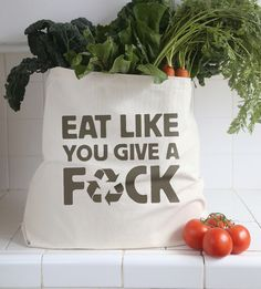 Looking for that perfect grocery bag? Not anymore. Check out Thug Kitchen's new merch store. You're fucking welcome.  Available at http://store.thugkitchen.com