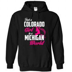 COLORADO-MICHIGAN girl Pink05 - #zip up hoodie #university sweatshirt. FASTER => https://www.sunfrog.com/States/COLORADO-2DMICHIGAN-girl-Pink05-Black-Hoodie.html?68278