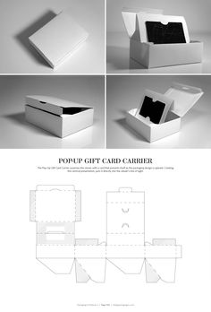 Pop-Up Gift Card Carrier – structural packaging design dielines