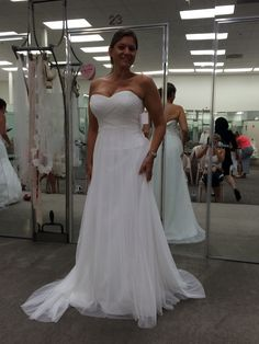 David's Bridal Swiss Tut Dulle Empire Waist Soft