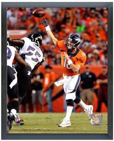 75d7b40ee Peyton Manning Denver Broncos vs. Baltimore Ravens 9 5 13 - 11 x 14 Framed  Photo