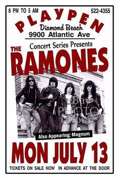 The RAMONES 1981 PLAYPEN Diamond Beach NJ Artist Rendition Poster THouse 2015 #THouseArtPoster