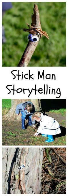 Stick Man Storytelling - take storytelling outdoors with this activity inspired by the popular book Book based play and activities. Fun Outdoor Activities, Nature Activities, Outdoor Learning, Outdoor Play, Activities For Kids, Outdoor Games, Kindergarten Activities, Educational Activities, Preschool Activities