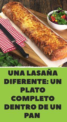 Una lasaña diferente: un plato completo dentro de un pan Party Finger Foods, Fabulous Foods, Herbal Remedies, Pasta Dishes, Mexican Food Recipes, Tapas, Herbalism, Food And Drink, Cooking Recipes